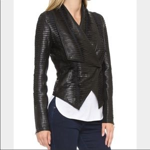 NWT $198 Blank NYC Faux Leather Strip twisted XS